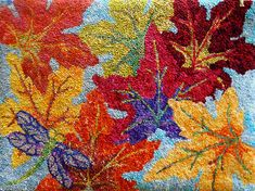 Beautiful colours - rag rug - base table runner / table mat design on this?