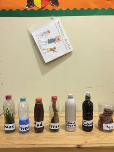 We're going on a Bear hunt sensory bottles great fun to make and put in order!