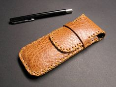 Leather pocket pen holder, made with high quality genuine leather. Minimalist leather pencil holder, keeps pencils organized and always in one place. Stamped Jewelry, Metal Jewelry, Custom Jewelry, Unique Jewelry, Custom Metal, Custom Leather, Black And White Logos, Leather Stamps, Steel Rod