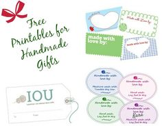 Free Printable Gift Tags for Your Handmade Gifts | Petals to PicotsPetals to Picots