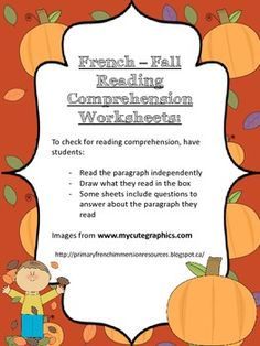 Worksheets French Reading Comprehension Worksheets pinterest the worlds catalog of ideas french fall reading comprehension worksheets