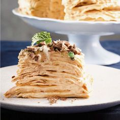 On Pancake Tuesday we eat pancakes all day long... Especially this Peppermint Crisp pancake stack! Roast Menu, Peppermint Crisp Tart, Coffee Biscuits, Sticky Pork, Pancake Stack, How To Make Pancakes, South African Recipes, Food Dishes, Cravings