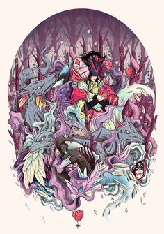 Forest Creatures by Pinatha. Check out http://digitalart.io for more great digital art.