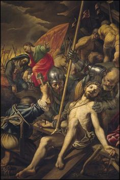Vincenzo Campi, 1530/1535-1591, Italian, The Crucifixion, 16th century.  Oil on canvas, 201 x 141 cm.  Museo del Prado, Madrid.  Mannerism. Sistine Chapel Ceiling, Blood Of Christ, Gustave Courbet, Spiritual Beliefs, Holy Rosary, Sacre, Jesus Cristo, New Testament, Religious Art