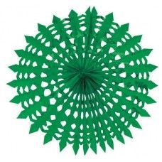 Green Glitz Hanging Decor Fan=> N2,450.25 These green diecut fans are lovely and can be hung anywhere with string. Tie them with other fans or tape them to the wall for a dramatic effect.
