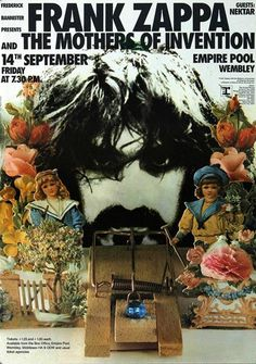 14.9.1973; frank zappa and the mothers of invention; gbr, london, wembley empire pool; (db)