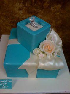 Diamond Ring Engagement Cake