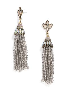Iridescent tassels are so party ready! #baublebar #swatstyle #earrings