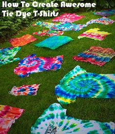 How to Create Awesome Awesome Tie Dye T-Shirts by Dishfunctional Designs
