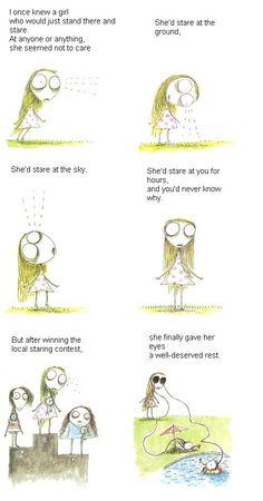 Tim Burton - Staring Girl