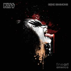 Gene Simmons The Demon Best Rock Bands, Rock And Roll Bands, Kiss World, Vintage Kiss, Vintage Type, Kiss Art, Hot Band, Gene Simmons, Love Kiss