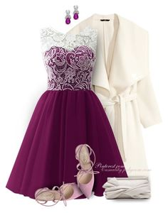 """""""Dinner Party Date in Lace"""" by casuality ❤ liked on Polyvore featuring H&M, Trilogy and SJP"""