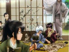 GINTAMA, Yoshida Shoyou, Childhood of Katsura Kotarou, Sakata Gintoki & Takasugi Shinsuke 5 Anime, Kawaii Anime, Servant Of Evil, Gintama Funny, Comedy Anime, Mama Cat, Gekkan Shoujo, Okikagu, Manga Anime