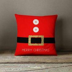 Christmas Pillow Covers Holiday Pillows Santa by wfrancisdesign Christmas Cushions, Christmas Pillow Covers, Christmas Projects, Christmas Crafts, Christmas Decorations, Christmas Sewing, Noel Christmas, Sewing Pillows, Diy Pillows