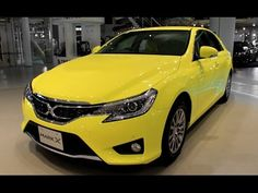 video of 2015 TOYOTA MARK X 250G S Yellow Label with yellow and black interior