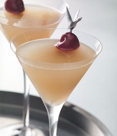 GREY GOOSE® CHERRY NOIR CHERRY LANE: Combine 1½ parts GREY GOOSE® Cherry Noir, ¾ part BÉNÉDICTINE® Liqueur, 1½ parts lemon juice,  ¾ part simple syrup and 1 dash of bitters into a cocktail shaker filled with ice. Shake vigorously and strain into a martini cocktail glass.