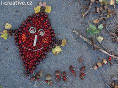 podzimní drak z přírodnin