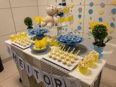 Hipopótamo em decoração de chá de fraldas