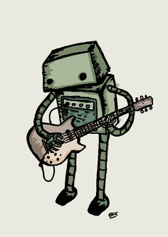 Guitar Playing Robot - yes please.