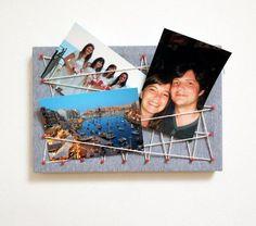 DIY Pinboard : DIY Make: a photo display board