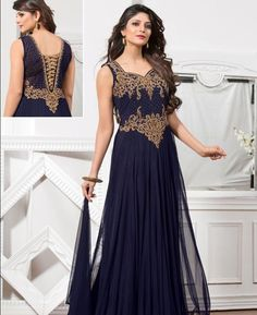 Buy Gorgeous Blue Readymade Gown online at  https://www.a1designerwear.com/gorgeous-blue-readymade-gown  Price: $114.97 USD
