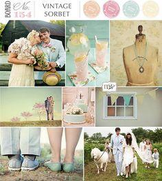5. Colour Theme - Vintage Sorbet  #modcloth #wedding