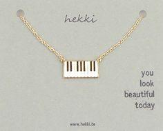 KETTE *PIANO* Emaille + gold von hekki-world auf DaWanda.com