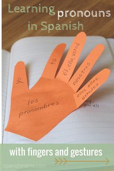 Use fingers and gestures to make Spanish pronouns concrete and easy to remember. This is perfect for interactive notebooks!
