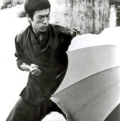 """A good martial artist does not become tense, but ready. Not thinking, yet not dreaming. Ready for whatever may come. When the opponent expands, I contract; and when he contracts, I expand. And when there is an opportunity, """"I"""" do not hit, """"it"""" hits all by itself. (Bruce Lee)"""