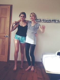 @shieldswillow and her sister dancing it out after rock climbing! its the cutest thing ever! she's so amazing and is my idol! :D
