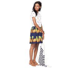 J.Crew: Looks We Love--I am completely smitten by the pineapple skirt.
