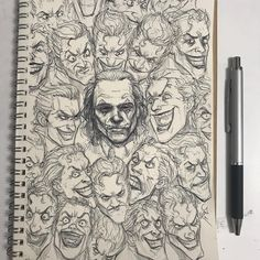 Today's piece is called Smile! Did you watch the Joker trailer? I can't wait… Today's piece is called Smile! Joker Drawings, Art Drawings, Comic Books Art, Comic Art, Joker Kunst, Posca Art, Joker And Harley Quinn, The Joker, Joker Art