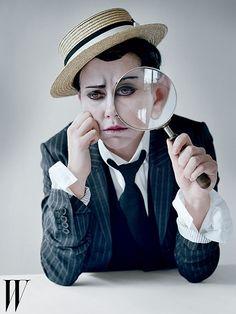 Scarlett Johansson as Buster Keaton by Tim Walker, W Magazine, 2010