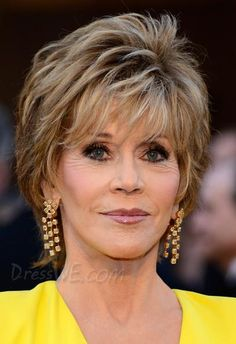 Oscar Star Jane Fonda Hairstyle 100%Human Hair Full Lace Wig about 6 inches Straight Item Code:10869178 Market Price: USD $570.00 Our Price: USD $ 190.99