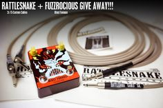 Win Rattlesnake Cable Company - pair of 15' Custom Cables and Fuzzrocious Blast Furnace Fuzz (combined retail value of $300)