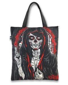 Liquor Brand Canvas Tote Bag Dark Oracle Red Black Rockabilly Punk Tattoos Purse | eBay