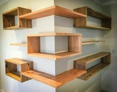 Building some DIY corner shelves might be a great idea for your next weekend project. Corner shelves are a smart solution for your small space. If you want to have shelves but you don't want to be too much on . Diy Corner Shelf, Corner Wall, Corner Shelves Living Room, Corner Shelf Design, Corner Space, Bedroom Corner, Master Bedroom, Diy Furniture, Furniture Design