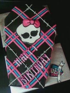 Monster High cake... love the weaving