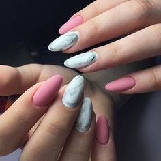 18 Pink and White Nails Designs for a Popular and Classic Mani Look ★ Matte Nails with Pink Shades Picture 2 ★ See more: http://glaminati.com/pink-and-white-nails/ #pinkwhitenails #pinknails
