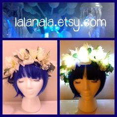 LED Light up Flower Crown for Festivals EDC EDM Raves by LaLaNala, $35.00