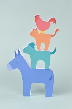 Stack up these printable animals from a story by the Brothers Grimm!