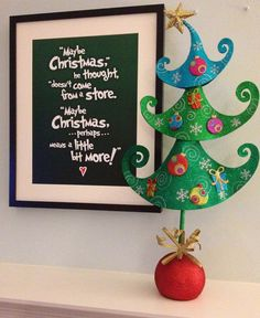 Who doesnt love the Christmas tale of the Grinch?  This fun festive whimsical print is sure to remind us what Christmas is about...    This