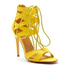 lovely LONNA in yellow #cindellaheels