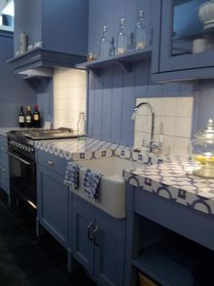 kitchen worktop by Erbi in Sublimo material - Old Dutch pattern (Design Collectie Keukenblad 2141PS Old Dutch Sublimo)