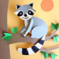 Bezig met dit schattige wasbeertje! #raccoon #illustration #paperart #paperartist