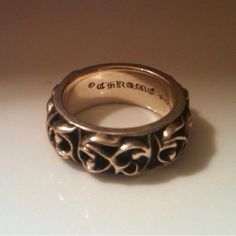 Chrome Hearts Tribal Sterling Silver Band Ring | eBay