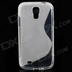 S-Line Style Protective TPU Soft Back Case for Samsung Galaxy S4 i9500 - Transparent