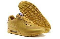 Nike Air Max 90 Hyperfuse Quickstrike (USA Independence Day Pack) All Gold Mens Running Shoes