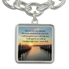SERENE ISAIAH 41:10 SUNSET PHOTO DESIGN BRACELET Inspiring and uplifting Christian Jewelry.  http://www.zazzle.com/myheavenlyblessings/jewelry?dp=252880112189019707&rf=238246180177746410 #ChristianJewelry #Christiangifts #Scripturejewelry #Scripturegifts #Bornagain #JesusisLord