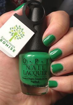 OPI - Sandy Hook Green  Yes, I donated to Sandy Hook Promise and this is on my nail polish rack. Will always remember the children and teachers.